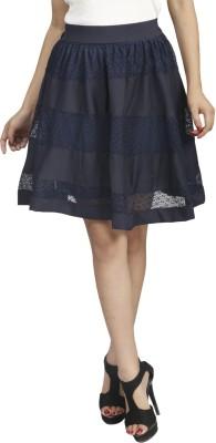 Naitik Solid Women's Regular Blue Skirt