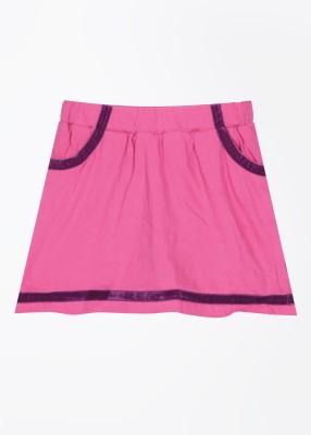 Cherokee Kids Solid Girl's A-line Pink Skirt