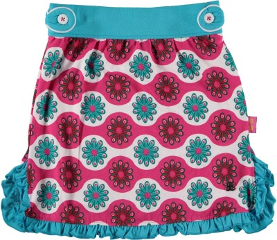 Bakery Babes Printed Girl's A-line Pink Skirt
