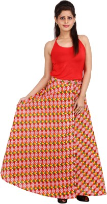 Ceil Printed Women's Wrap Around Multicolor Skirt