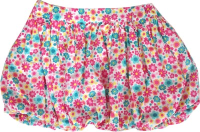 Sunbright Floral Print Girl's Bubble Pink, Light Blue Skirt