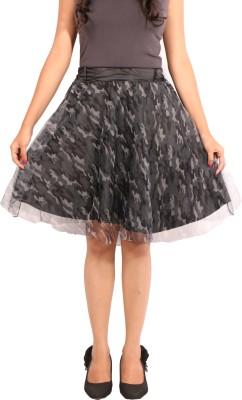 Showoff Printed Women's Regular Grey Skirt