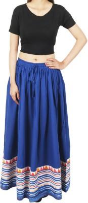 Shopatplaces Self Design Women's Regular Blue Skirt