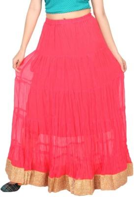 Carrel Solid Women's Wrap Around Pink Skirt