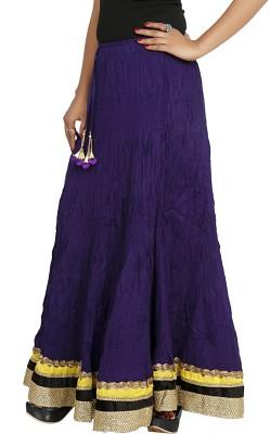 Sringar Solid Women's Regular Blue Skirt
