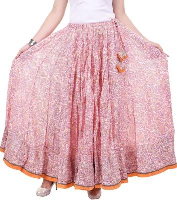 chidiyadesigns Printed Women's Gathered Pink Skirt