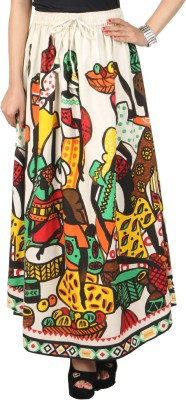 DConcept Graphic Print Women's Gathered Multicolor Skirt