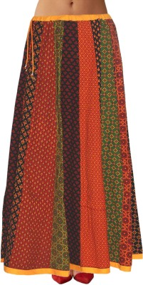 Sttoffa Printed Women,s Pleated Multicolor Skirt