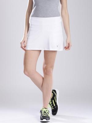 HRX by Hrithik Roshan Solid Women's A-line White Skirt