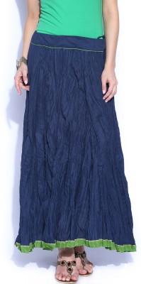 Fabindia Solid Women's A-line Dark Blue Skirt