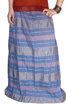 Selfi Printed Women's Regular Blue Skirt