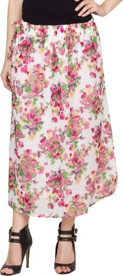 Famous by Payal Kapoor Floral Print Women's Straight Multicolor Skirt