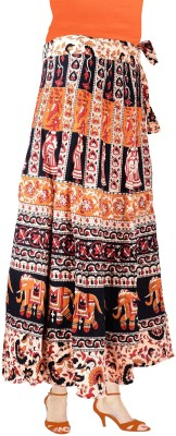 Decot Paradise Self Design Women's Wrap Around Multicolor Skirt