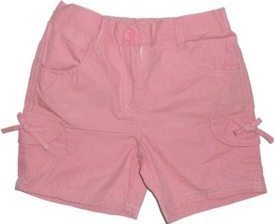 Red Rose Woven Girl's Regular Pink Skirt