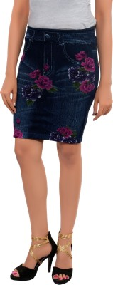 Feminine Floral Print Women's Pleated Multicolor Skirt