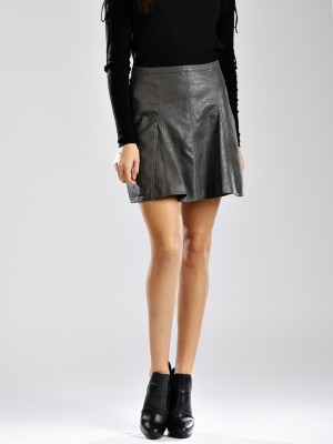GAS Solid Women's A-line Grey Skirt