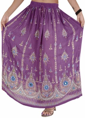 Skirts & Scarves Embellished Women's Broomstick Purple Skirt