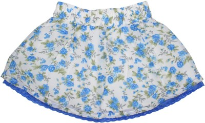 FS Mini Klub Printed Girl's A-line Blue Skirt