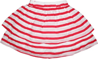 FS Mini Klub Striped Girl's A-line Red Skirt