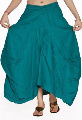 Jaipur Kala Kendra Solid Women's Regular Dark Green Skirt