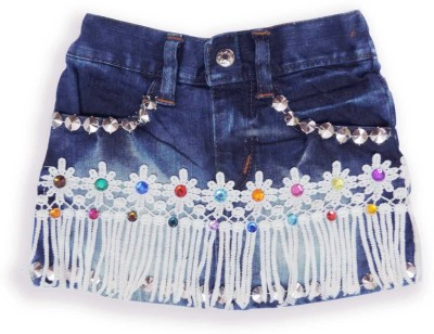 Ole Baby Solid Baby Girl's A-line Dark Blue Skirt