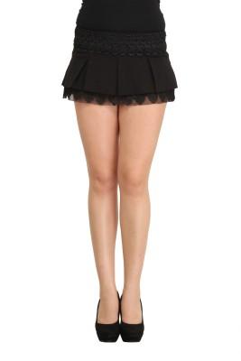 Star Style Self Design Women's Regular Black Skirt