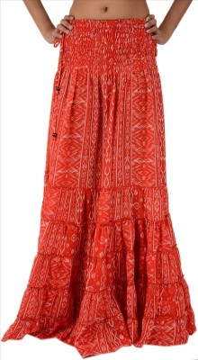 Skirts & Scarves Printed Women's A-line Red Skirt