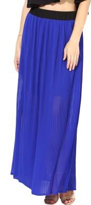 Martini Solid Women's Regular Dark Blue Skirt