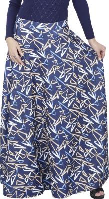 Svt Ada Collections Printed Women,s A-line Dark Blue Skirt