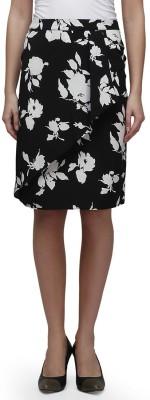 CHERYMOYA Printed Women's Pencil Black Skirt