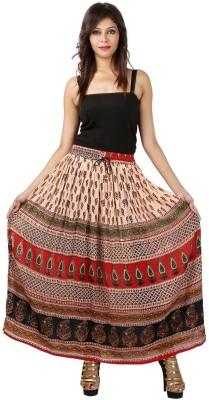 Marwari Fashion Printed Women's Wrap Around Multicolor Skirt
