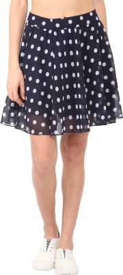 Anekdote Printed Women's Regular Blue, White Skirt at flipkart