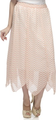 One Femme Printed Women's A-line Multicolor Skirt