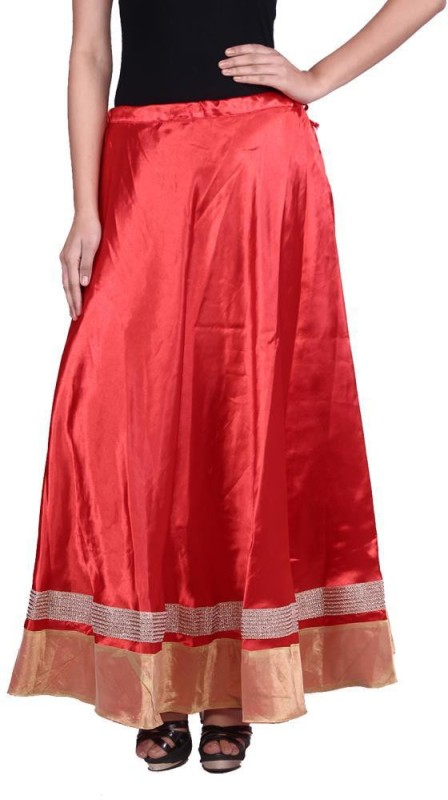 Prateek Exports Printed Women's A-line Red Skirt