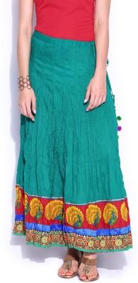 Anouk Solid Women's Regular Blue Skirt