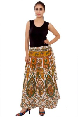 Pms Fashions Animal Print Women's Wrap Around Multicolor Skirt