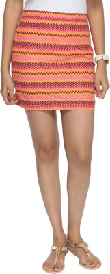 Francisca & Dominique Chevron Women's Tube Multicolor Skirt