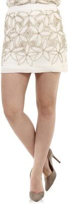 Oxolloxo Solid Women's Pencil White Skirt at flipkart