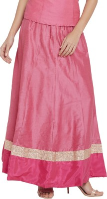 Globus Solid Women's Regular Pink Skirt