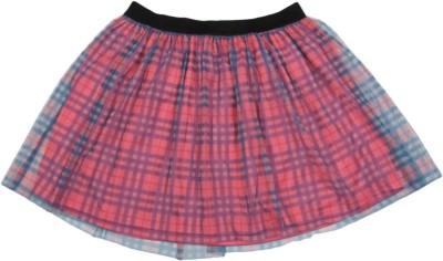 Chemistry Girl Checkered Girls A-line Multicolor Skirt at flipkart