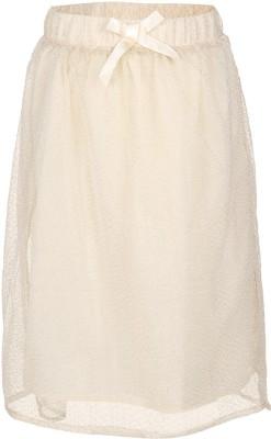 Miss Alibi by Inmark Self Design Girl's Regular Beige Skirt