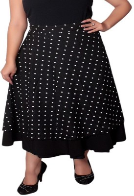 Dream Fashion Polka Print Women's Wrap Around Multicolor Skirt