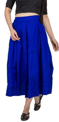 Vodka Fashion India Solid Women's A-line Blue Skirt