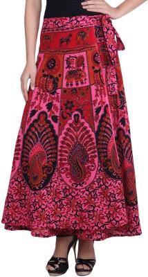 fashionmandi Floral Print Women's Pleated Multicolor Skirt