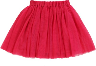 Teeny Tantrums Solid Girl's Layered Pink Skirt