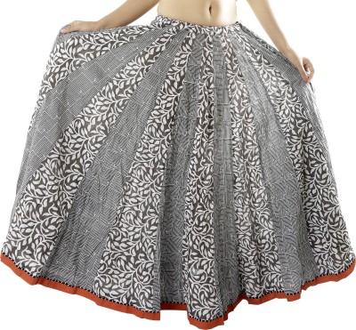 Chidiyadesigns Printed Women's Gathered Grey Skirt