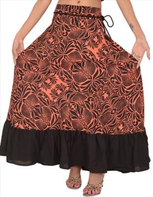 Skirts & Scarves Floral Print Women's Straight Black Skirt