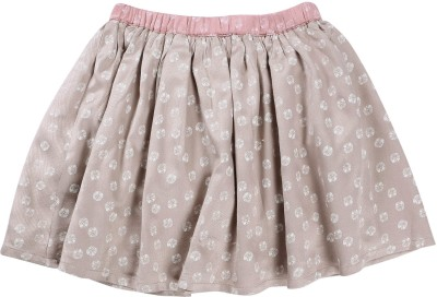 ShopperTree Printed Girl's A-line Grey Skirt