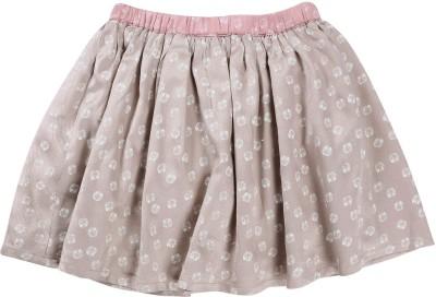 ShopperTree Printed Girls A-line Grey Skirt