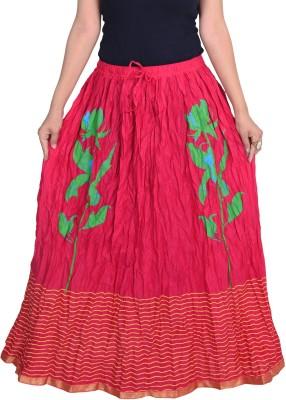 Decot Paradise Printed Women's Regular Pink Skirt at flipkart